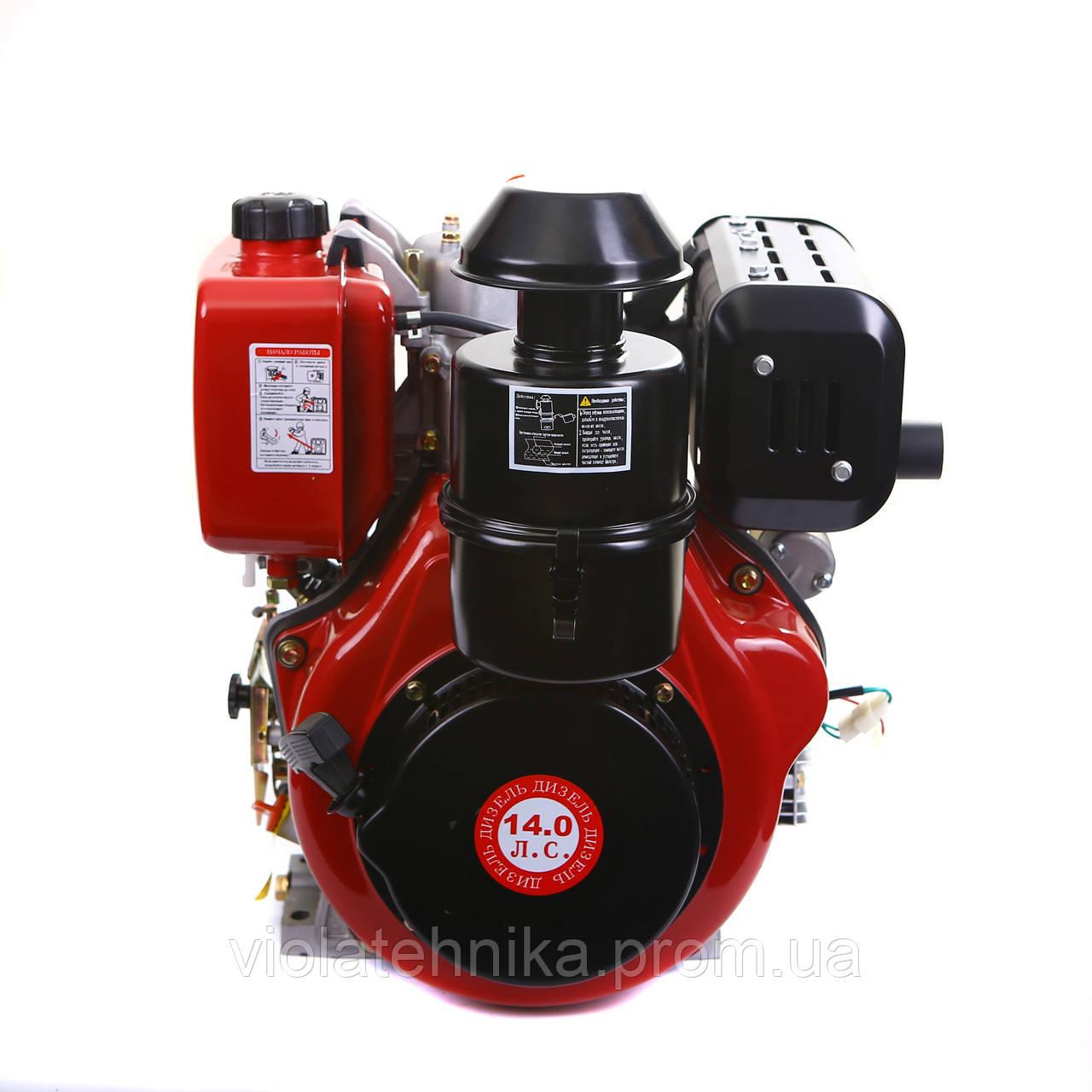 Двигун дизельний WEIMA WM192FЕ (вал під шпонку) 14 л. с.