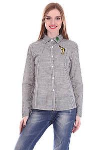 Рубашка женская LadiesFashion 599 с пуговицами (Серый M)