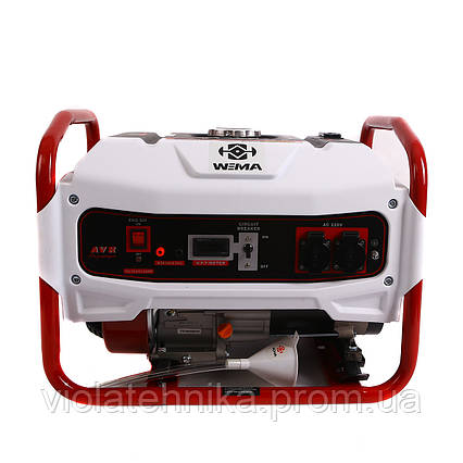 Генератор бензиновый WEIMA WM2500B (2,5 кВт, 1 фаза, ручной старт), фото 2