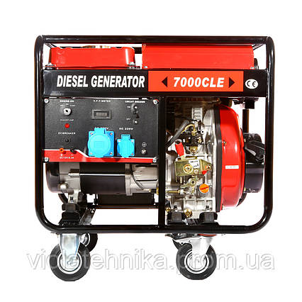 Генератор дизельный WEIMA WM7000CLE (7 кВт, 1 фаза, электростартер), фото 2