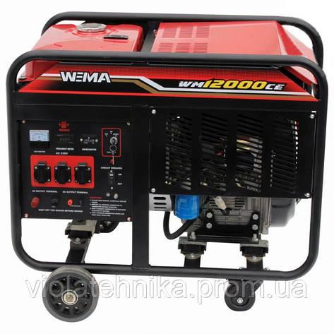 Генератор дизельный WEIMA WM12000CE3 (12 кВт, 3 фазы, электростартер), фото 2