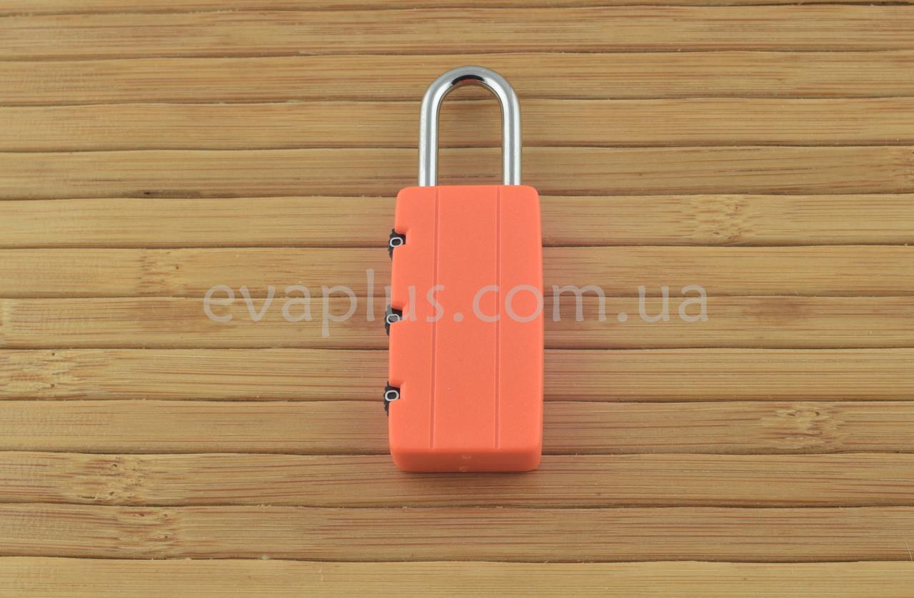 Навесной кодовый замок КД45 навесной (оранжевый)