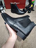Ботинки мужские зимние модные Zara Classic Leather Boots Black