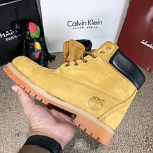 Ботинки мужские зимние модные Timberland 6-Inch Premium Waterproof Yellow Boot