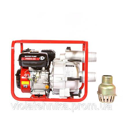 Мотопомпа бензиновая WEIMA WMPW80-26 для грязной воды (78 куб.м/час), фото 2