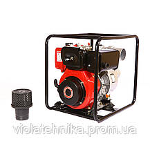 Мотопомпа дизельная WEIMA WMCGZ100-30 (12 л.с., 120 куб. м/ч, 100 мм), фото 3
