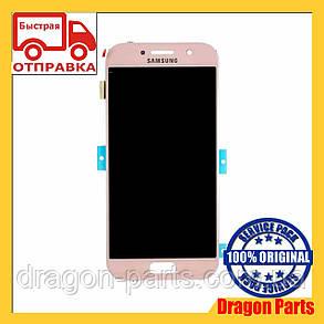 Дисплей Samsung A520 Galaxy A5 с сенсором Розовый Pink оригинал , GH97-19733D, фото 2