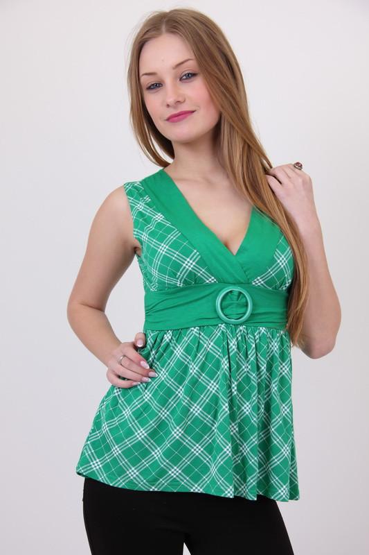 Туника женская XIAOJI 0903 классики (Зеленый M/L)