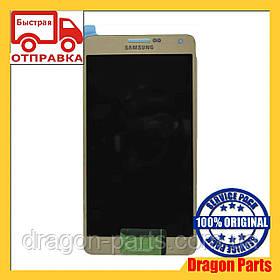 Дисплей Samsung A700 Galaxy A7 с сенсором Зотолой Gold оригинал , GH97-16922F