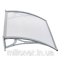 Навес для входных дверей Siker 700-N (700*1500) Серый, фото 2