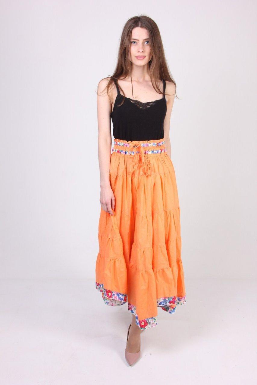 Юбка женская Carrokar 3457 (Оранжевый M/L)