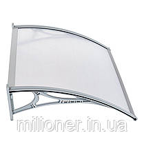 Навес для входных дверей Siker 800-N (800*1200) Grey, фото 2