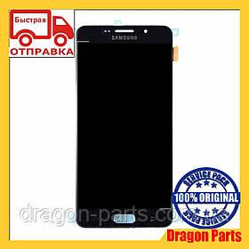 Дисплей Samsung A710 Galaxy A7 с сенсором Черный Black оригинал , GH97-18229B