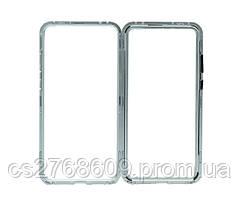 Бампер Металевий-Скляний Huawei P20 Pro сірий