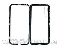 Бампер Металевий-Скляний Huawei P20 Pro чорний