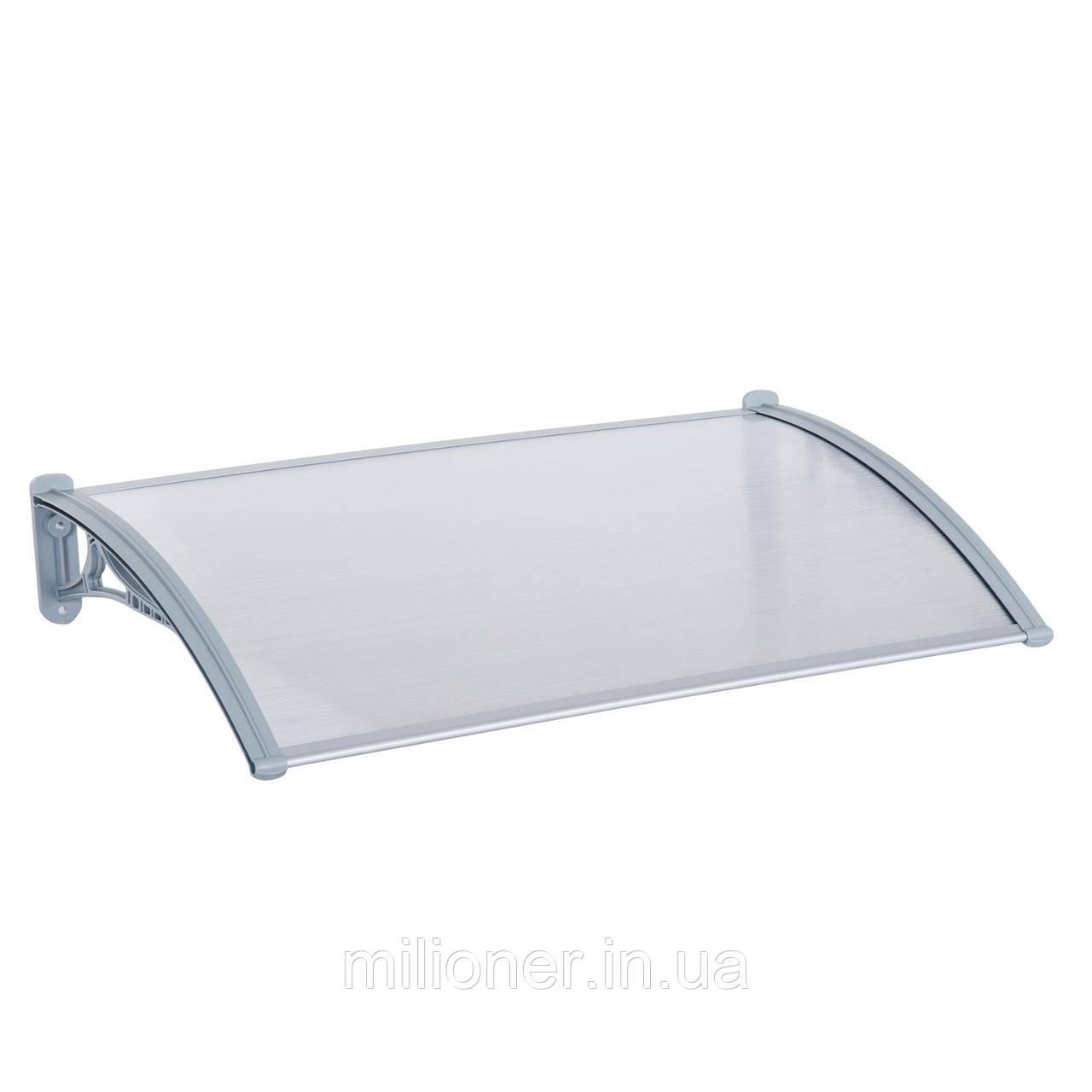 Навес для входных дверей Siker 800-N (800*1500) Grey