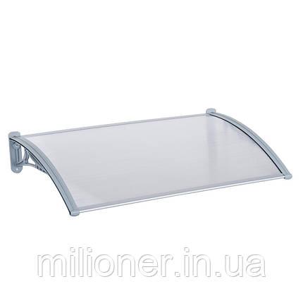 Навес для входных дверей Siker 800-N (800*1500) Grey, фото 2