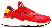 Женские кроссовки Nike Huaranche в красном цвете, фото 1