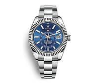 Часы Rolex Sky-Dweller 40mm (ETA 2834) Silver/Blue (Механика). Replica: AAA.