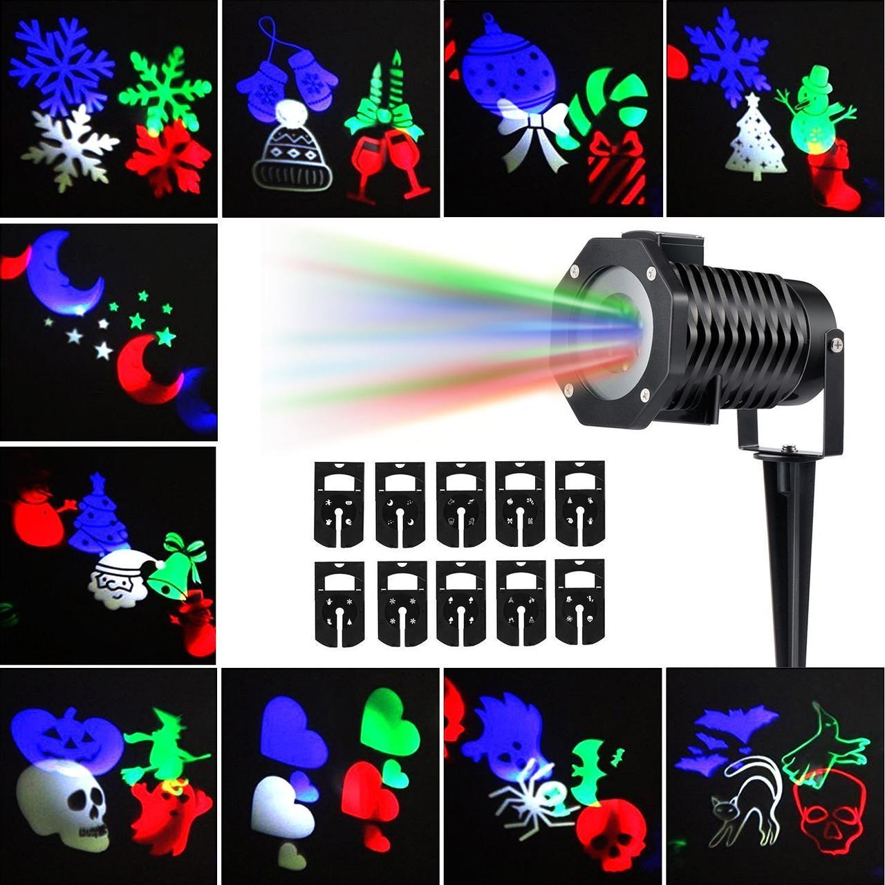 Лазерный проектор DIY projection lamp со съемными кассетами (12 шт) PRO-5