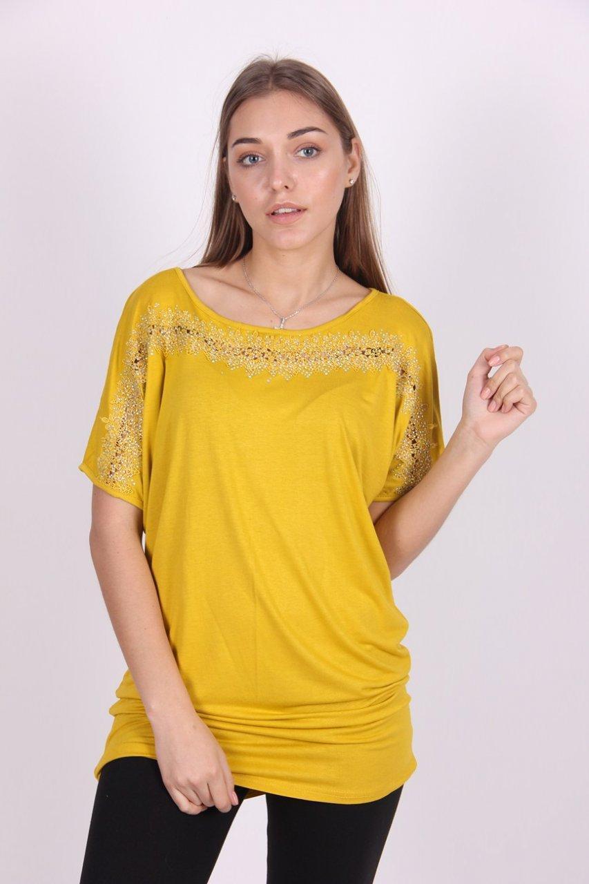 Туника женская YONG CHUN 3824 стразы (Желтый M)