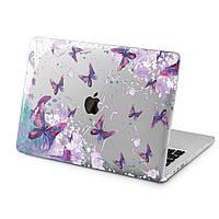 Чехол пластиковый для Apple MacBook (Акварель, бабочки) модели Air Pro Retina 11 12 13 15 16 2018/19/20 эпл макбук эйр про ретина case hard cover