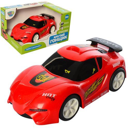 Машинка спортивная Hola 6106b музыка свет красная 17 см на батарейках