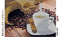 Алмазная вышивка «Чашка кофе ». АВч-3040 (А3). Частичная выкладка, фото 1