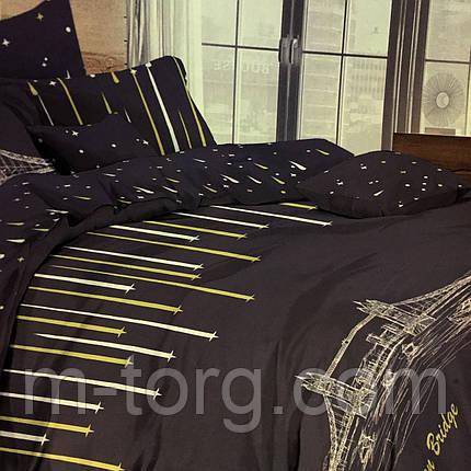 """Комплект постельного белья полуторный 150/220, нав-ки 70/70, ткань поплин, 100% состоит из хлопка"""" город"""", фото 2"""