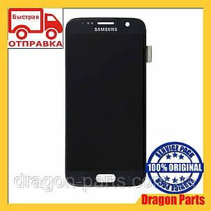 Дисплей Samsung G930 Galaxy S7 с сенсором Черный Black оригинал , GH97-18523A, фото 2