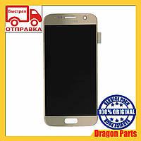 Дисплей Samsung G930 Galaxy S7 с сенсором Золотой Gold оригинал , GH97-18523C