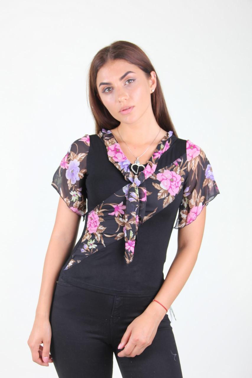Блузка женская EURO'S 0655 циганочка (Черный S/M)