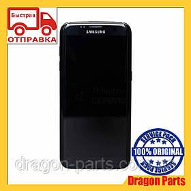 Дисплей Samsung G935 Galaxy S7 Edge с сенсором Черный Black оригинал , GH97-18533A