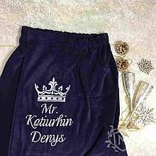 Банная юбка, килт с вышивкой именной