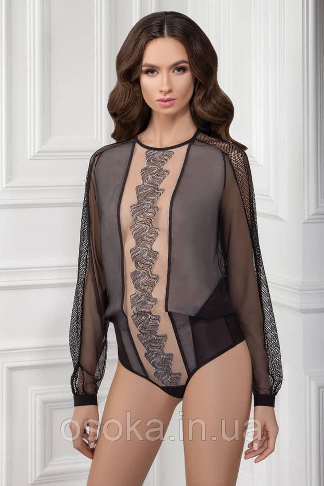 Боди блуза с австрийской вышивкой Jasmine 8912/11