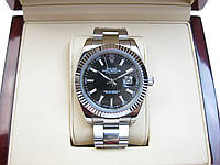 Часы Rolex DateJust 40mm Silver/Black (ETA 2834). Replica: AAA.