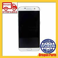 Дисплей Samsung G935 Galaxy S7 Edge с сенсором Серебряный Silver оригинал , GH97-18533B