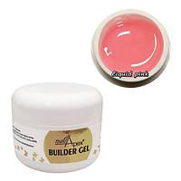 Nailapex Liquid Pink Builder Gel - моделирующий гель без опила нежный розовый, 50 мл