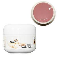 Nailapex Pink Builder UV Gel - моделирующий гель без опила розовый полупрозрачный, 28 мл