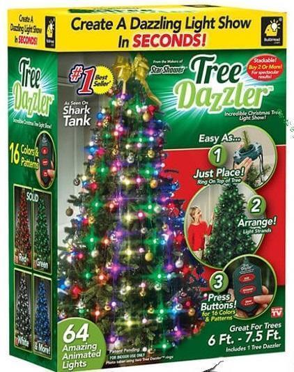 Новогодняя конусная гирлянда на елку мультиколор 48 Christmas lights
