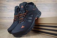 Мужские высокие, зимние кроссовки в стиле Adidas Climaproof | Топ качество!