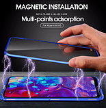 Магнітний метал чохол FULL GLASS 360° для Xiaomi Mi A3 /, фото 6
