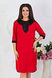 Модное женское трикотажное платье,размеры:48,50,52,54ю, фото 2