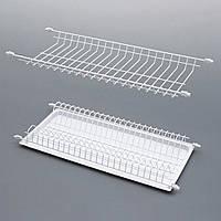 Сушка эмаль белая для посуды в кухонный шкаф / Сушилка емаль біла для посуду в кухонну шафу, L=800 мм, 740х223