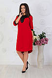Модное женское трикотажное платье,размеры:48,50,52,54ю, фото 4