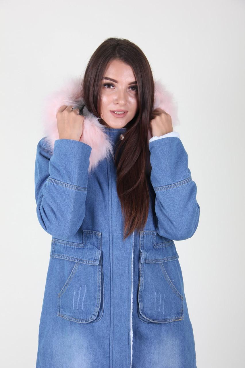 Куртка женская Ruixi 6078 джинс (Розовый L)
