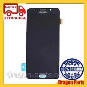 Дисплей Samsung N920 Galaxy Note 5 с сенсором Черный Black оригинал, GH97-17755B