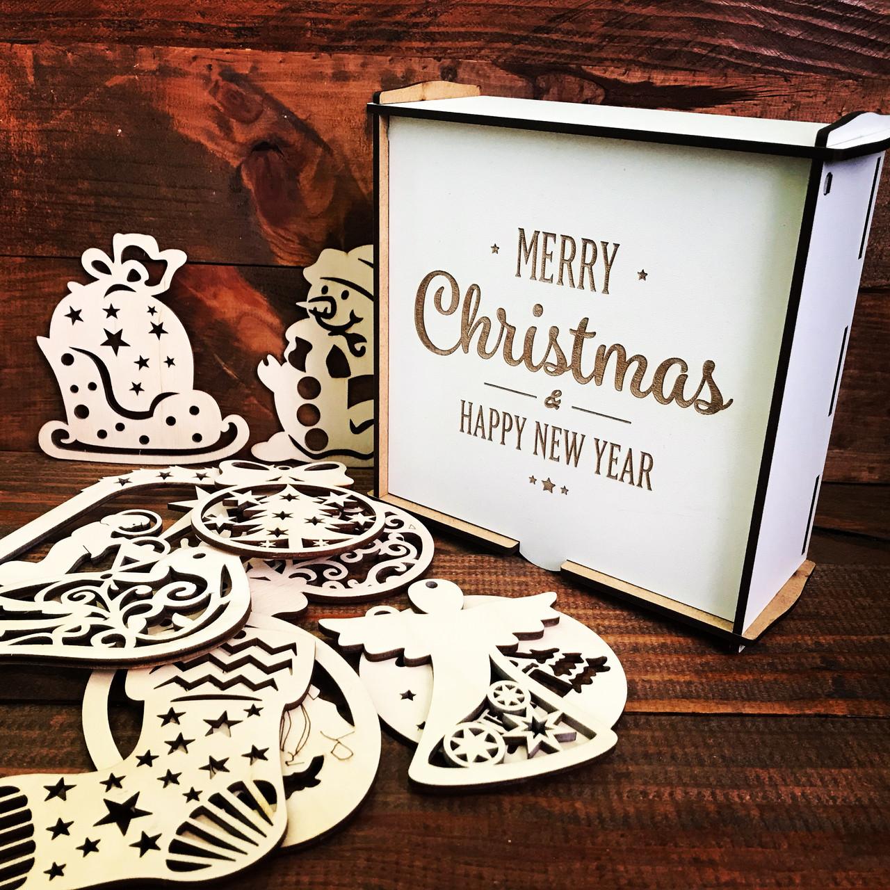 "Подарункова коробка з двп ""Merry Christmas"""