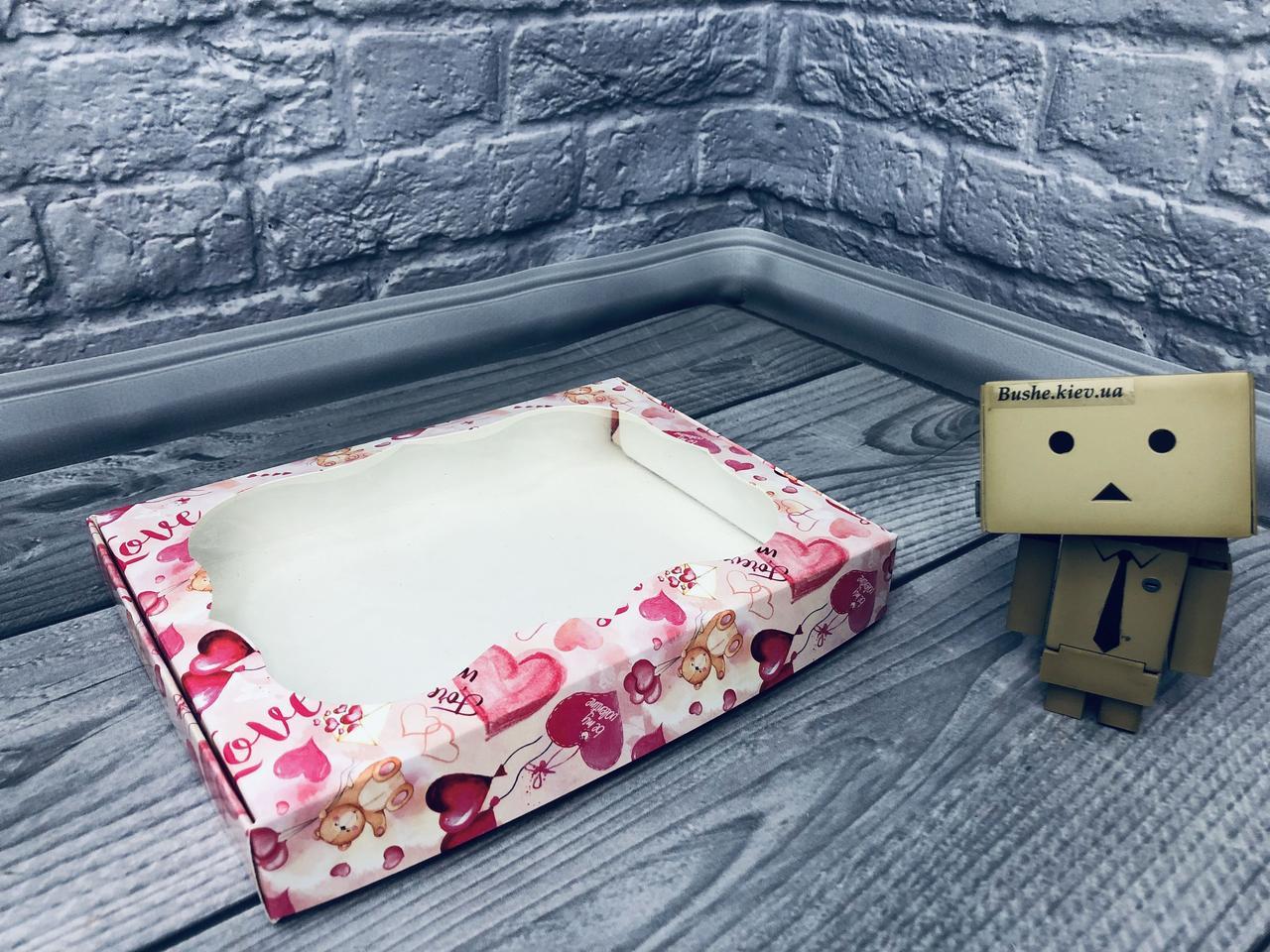 *10 шт* / Коробка для пряников / 150х200х30 мм / печать-Мишарики / окно-обычн / лк