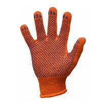 Рукавички ХБ, 8312, помаранчеві (10 пар/уп), фото 1